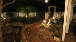 Front Garden At Night.JPG
